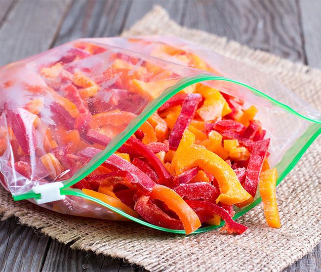 verdura congelata nel freezer